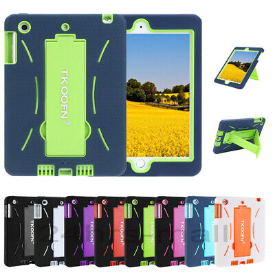 HYBRID SHOCKPROOF HEAVY DUTY STAND CASE COVER FOR iPad 2 3 4 5 6 9.7 Mini AIR 2