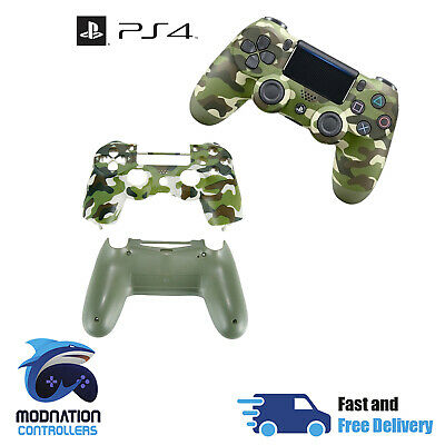 Playstation 4 PS4 V2 JDM-040 Controller Full Housing Shell Mod Kit - Army Camo