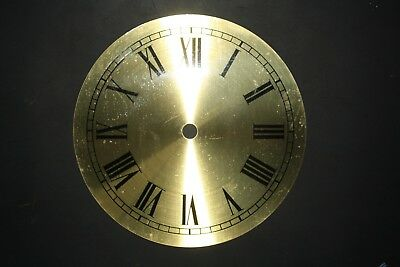 "New Clock Dial/Face 6"" /152mm Solid Brass with Black Roman Numerals"