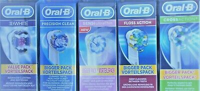 Braun Oral B Toothbrush Heads Precision Clean Cross Action 3D White Sensi Floss