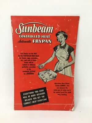 Sunbeam Frypan Frying Pan Controlled Heat Owners Manual 1953 17-2498
