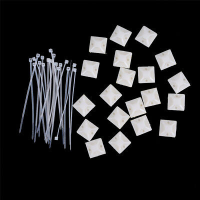 10Set Cable Clips Adhesive Cord Management Wire Wall Holder Organizer Clamp ^P