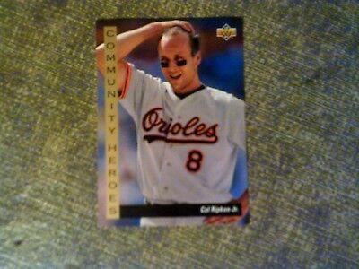 1992 Upper Deck Community Heroes Baseball Card 36 Cal Ripken Jr