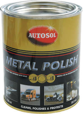 Autosol Metal Polish Paste 750ml Tin Solvol Chrome Aluminium Cleaner *980+ SOLD*