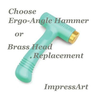 Impressart Metal Stamping, Choose Ergo-Angle 1lb Hammer or Replacement Head