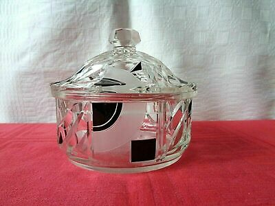 Karl Palda Art Deco Trinket Dish Jewellery Ring Box Glass Bohemian Czech Bohemia