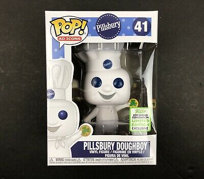 Funko Pop Ad Icons Pillsbury Doughboy With Shamrock Shared ECCC - In hand