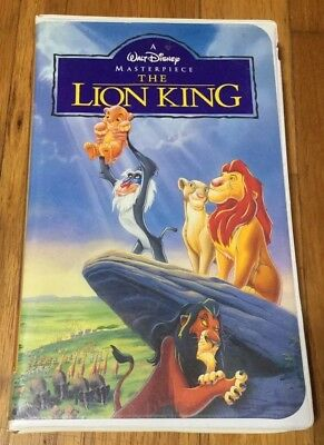The Lion King VHS 1995 Walt Disney Masterpiece