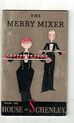1938 Cocktail Recipe Booklet The Merry Maker House of Schenley