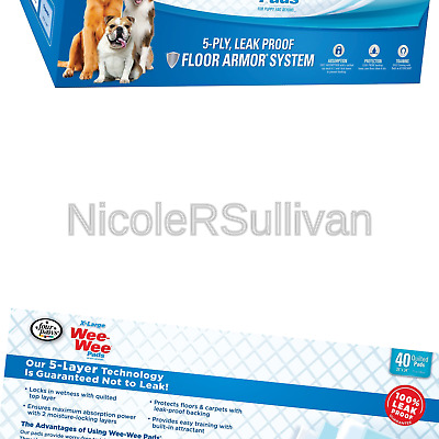 """Wee-Wee XL Puppy Pee Pads for Larger or Multiple Dogs X-Large (28"""" x 34"""") 40 Ct"""