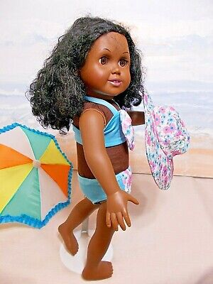 Doll  Clothes Cute  SALE Three Piece Swimsuit Fits American Girl 18 in. Dolls