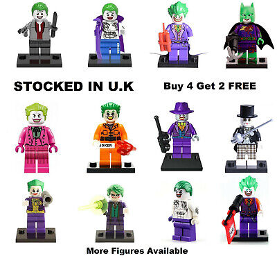 Joker Minifigure DC Batman Lego & Custom Dark Knight Suicide Squad Mini Figure