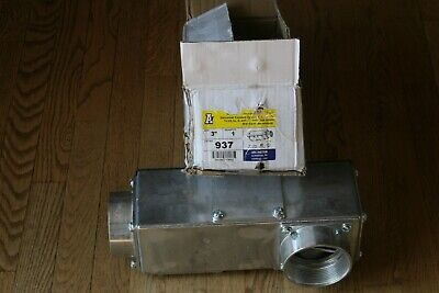 "ARLINGTON 937 Universal Conduit Outlet Body 3"" New Free Shipping"