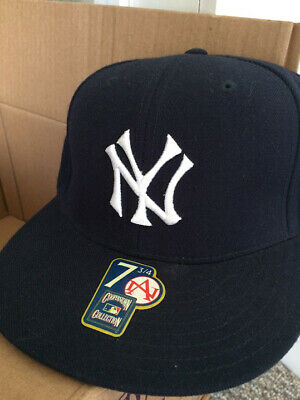 0be4eaf0edc New York NY Yankees American Needle Cooperstown Collection Baseball Cap Sz  7 3 4
