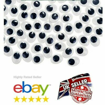 "New"" WOBBLY EYES  WOBBLY EYES GOOGLY EYES CRAFTS STICKERS EMBELLISHMENTS UK SELL"
