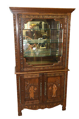 Charming French Breton Cabinet, Display Cabinet, 1900-20's