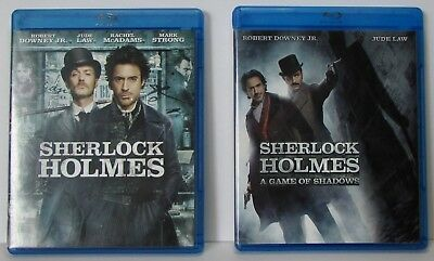 Sherlock Holmes & A Game of Shadows 2-Movie Collection / Lot Blu-ray / DVD
