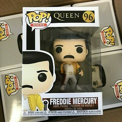 Funko POP! Queen Freddie Mercury #96 1986 Wembley Stadium Outfit -IN STOCK- MINT