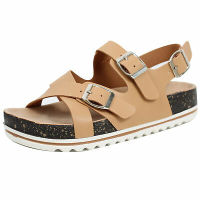15e1aef134c9 Nature Breeze Women s Faux Leather Strappy Slingback Platform Sandal