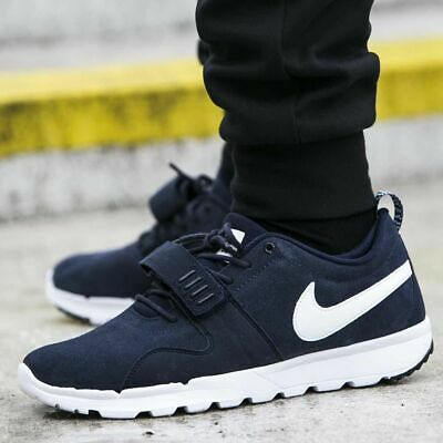 sports shoes f9923 36871 Nike SB Trainerendor Leather UK Size 9 EUR 44 Mens Trainers Boots Shoes  Obsidian