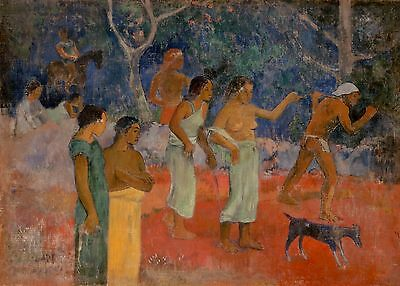 """PAUL GAUGUIN Painting Poster or Canvas Print """"Scene from Tahitian Life"""""""