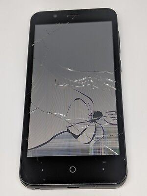 ZTE ZFIVE C (Z558VL) - Tracfone- For Parts/AS IS- Cracked Screen