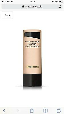 Max Factor Lasting Performance Foundation 35ml - Soft Beige #105 - Brand New