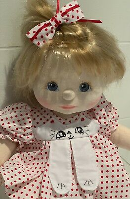 My Child Doll, Ash Blonde Top Knot, Blue Eyes Dressed, Excellent Condition