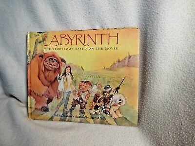 LABYRINTH Movie Storybook BOOK Louise Gikow illustrated Bruce McNally hardcover