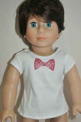 18 Inch Boy Doll Clothes American Girl Dolls Our Generation Bow Tie T-shirt