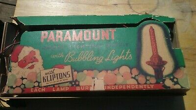 Vintage Paramount Bubble lights with Kliptons Christmas Tested  READ DESCRIPTION
