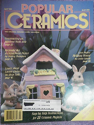 Popular Ceramics Magazine - April 1994 - Patterns Inside