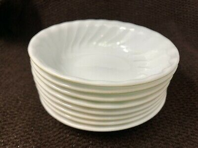 "1 CORELLE ENHANCEMENTS 18-oz SOUP Cereal Salad BOWL 7 1/4"" White Swirl 18-2234B"
