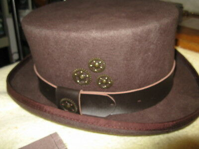 a2be66268eb434 NEW CONNER HATS STEAMPUNK Australian Wool Secret Compartment Top Hat ...