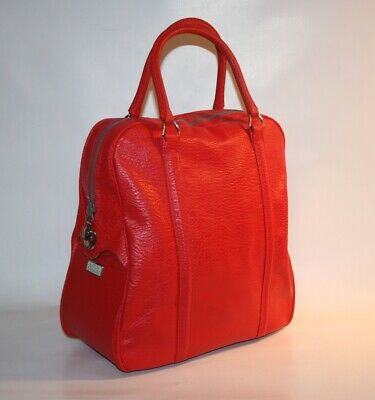 Vintage Red Luggage/Carry On/Overnight Bag/Travel Tote/Airline Amelia Earhart