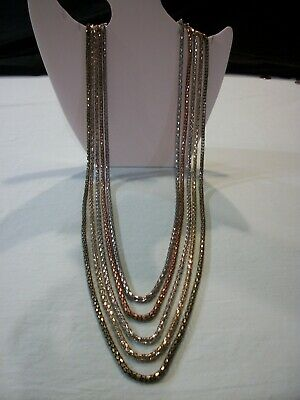 KNoCK OuT~(QUALiTY)~LoNG~GRADUATiNG~5 STRaND~GT~ST~BRoNZe~((GoRGEoUS))~NECKLaCE