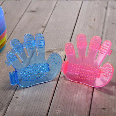 5Finger Pet Cat Dog Grooming Cleaning Glove Hair Removal Massage Comb Brush #ur