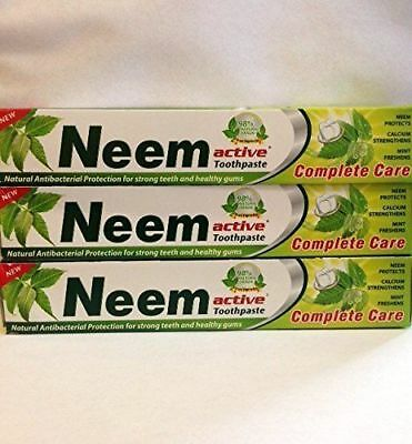 6 x 200g Neem Active Toothpaste  ayurvedic shipping included