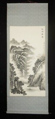 LANDSCAPE CHINESE PAINTING ANTIQUE Hanging Scroll China Asian AGED INK 643
