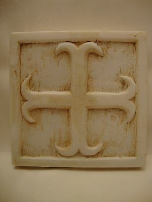 Byzantine Cross Rare Greek Orthodox Marble Cross Sculpture Hand Carved Plaque