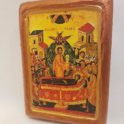 Dormition of The Mother of God Rare Russian and Greek Byzantine Icon Art