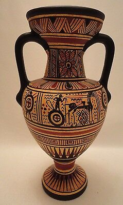 Archaeological Greek Pottery Art Rare 900 BC Geometric Painted Vase Amphora