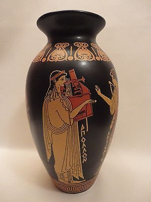 Greek Gods Apollo Poseidon Aphrodite and Artemis Ancient Greek Art Pottery Vase