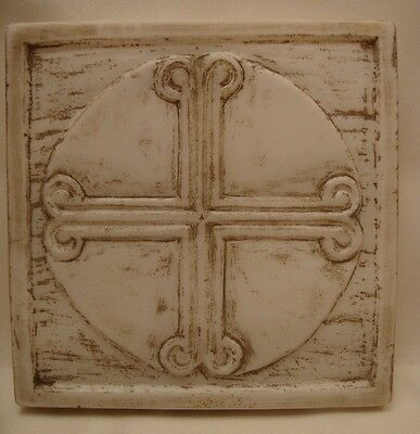 Byzantine Cross Rare Greek Orthodox Marble Cross Sculpture Art Hand Carved