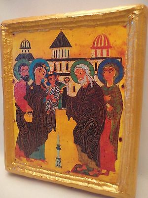 Hypapante Jesus at The Temple Candlemas Ypapanti Christian Greek Orthodox Icon