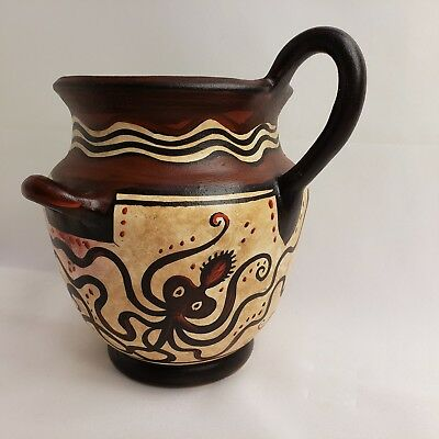 Octopus Mycenaean Ancient Greek Rare Art Pottery Vase Amphora or Hydria