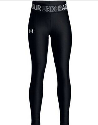 $30 Under Armour Apparel Girls HeatGear Capris black youth small  p54f