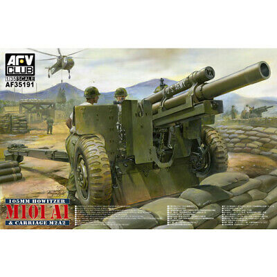 AFV 105mm HOWITZER M101A1 & CARRIAGE M2A2 1:35 #35191 AFV