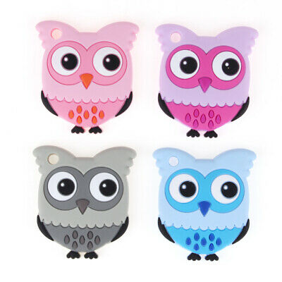 Owl Kids Baby Teether Food Grade Silicone Teething Soother Chewable Pendant