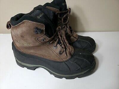8ab92c0482a COLUMBIA MENS FALMOUTH Winter Hiking Work Boots Size 7 Waterproof Brown  Black